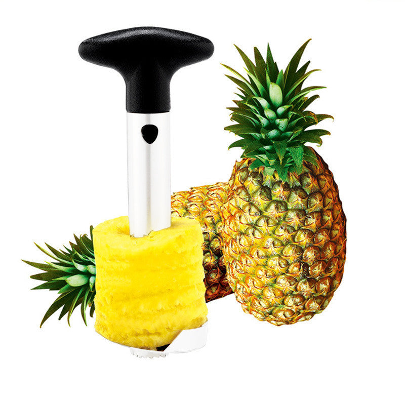 Pineapple Corer Slicer Peeler (Stainless-Steel) - 3 in 1 Tool - Flash Steals