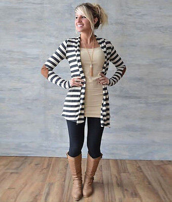 Women's Long Nautical Cardigan