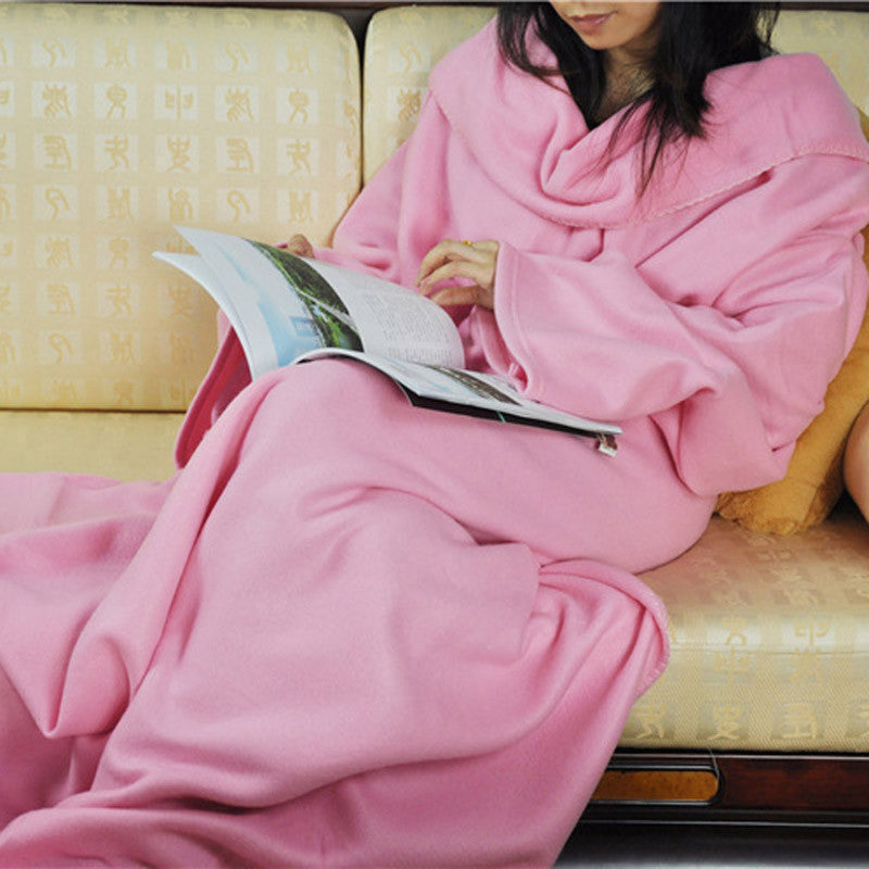 Fleece Blanket Robe - Multiple Colors