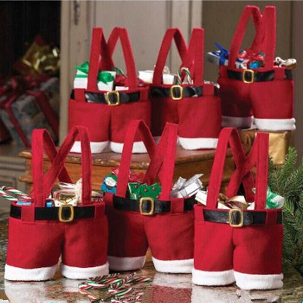 Set of 10: Santa Christmas Gift Bag - Flash Steals
