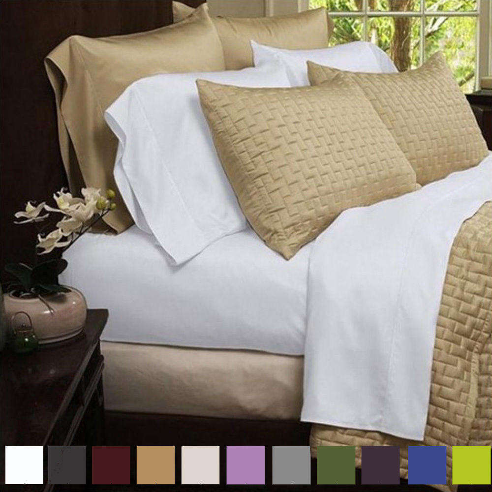 6 Piece Set: Super-Soft 2000 Series Bamboo Fiber Bed Sheets - 10 Colors