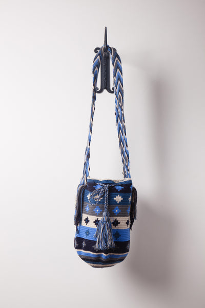 Blue and White Stripe, Patterned Bag