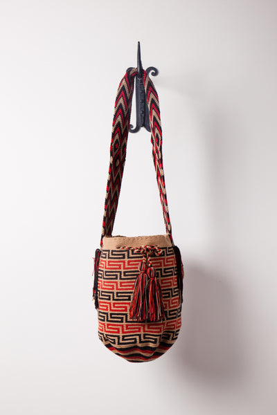 Brown and Orange Geo Stripe Neutral Bag