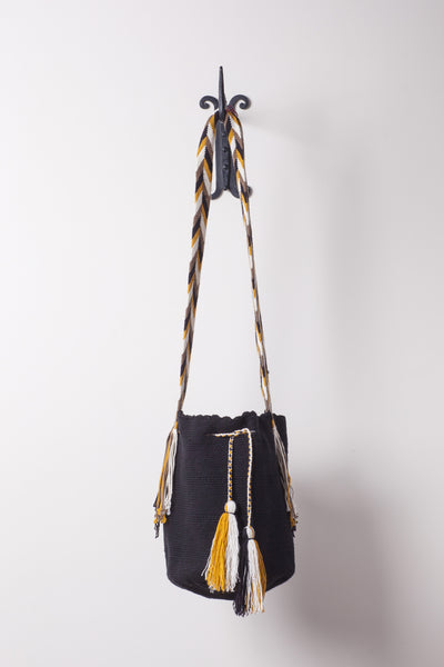 Black and Gold Solid Bag