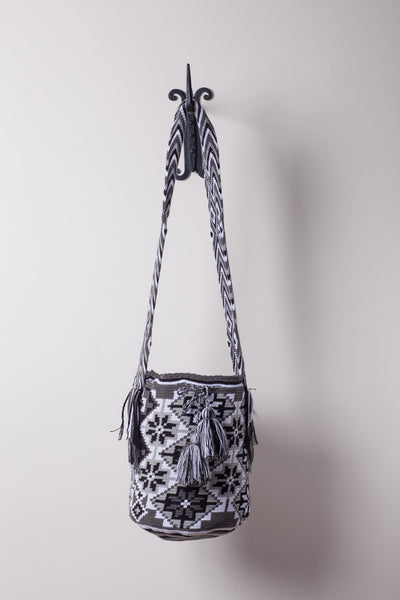 Black and White Star Patterned Bag
