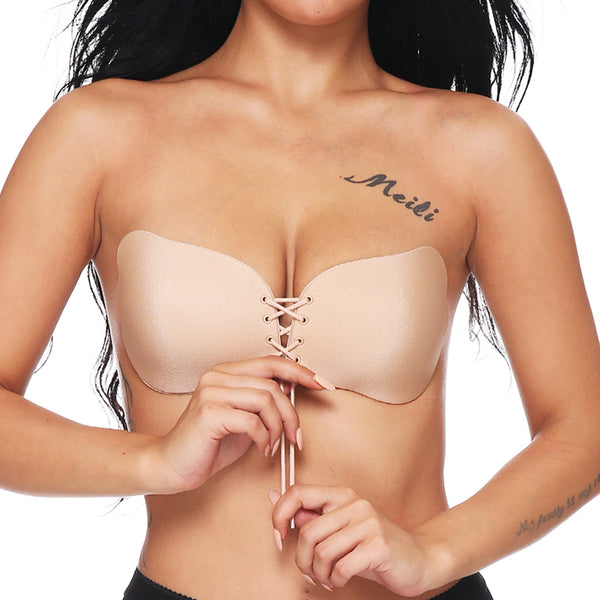 Sexy Women Strapless Seamless Invisible Bra Self-Adhesive Push Up