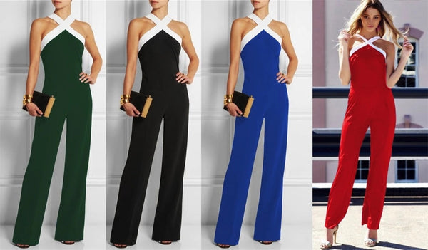 Elegant Ladies Plus Size Rompers  Jumpsuit