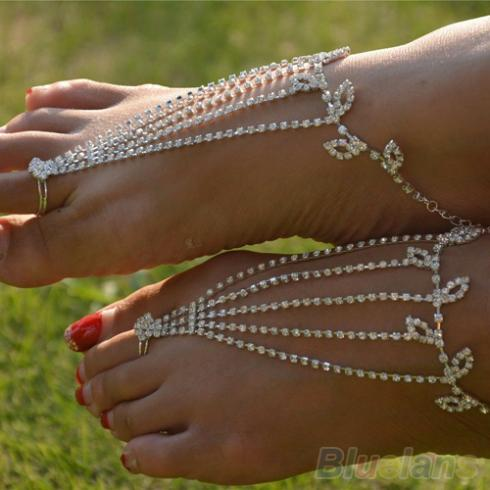 Mamir's Express - Barefoot Anklets Sandals Foot Jewelry Beach Ankle Bracelet Chain