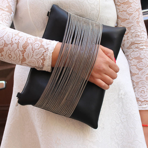 Brand new women leather handbag chain black for women messenger bag over the shoulder bag female bolso valentine clutch bag