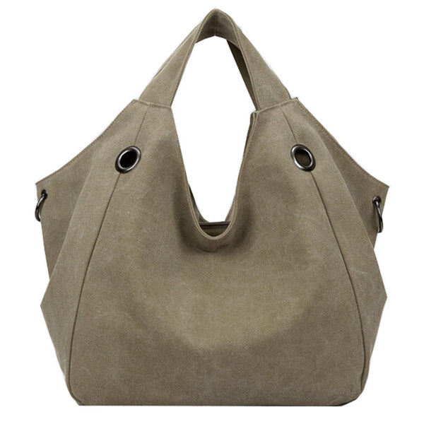 Mamir's Express - Designer Canvas Handbags Famous Brand High Quality Women Tote Shopping Bag Candy Color Shoulder Bag