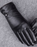 Mamir's Express - Luxurious Ladies Leather Winter Warm Gloves