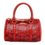 Six Pieces Set Pu Leather Embossing Vintage Styles Handbag