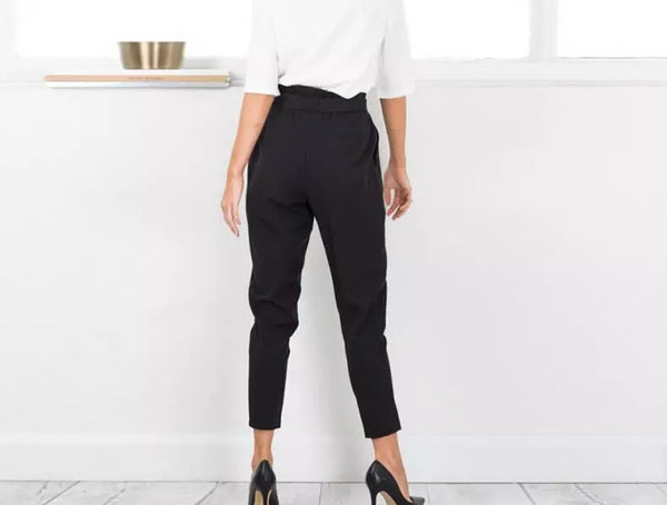 Mamir's Express - Chiffon high waist harem pants
