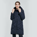 Winter Collection Bio Down Thick Women Jacket Hooded Parkas Coats