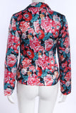 One Button Floral Blazer