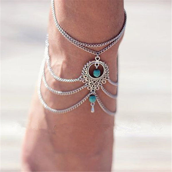 Mamir's Express - Beads Tassel Chain Anklet Barefoot Sandals Foot Jewelry