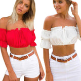 Sexy Strapless Off Shoulder Crop Tops