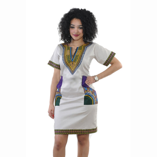0ee548b7e7bc African Dashiki Mini Dress