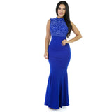 Women Sleeveless Long Mermaid Evening Party Maxi Dresses