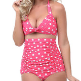 Mamir's Express - High Waist Retro Bikini Plus Sizes Women's Bathing Suits