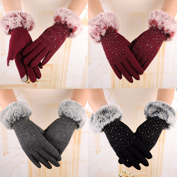 Glove For Women Winter Warm Gloves Cotton Elegant Full Finger Gloves