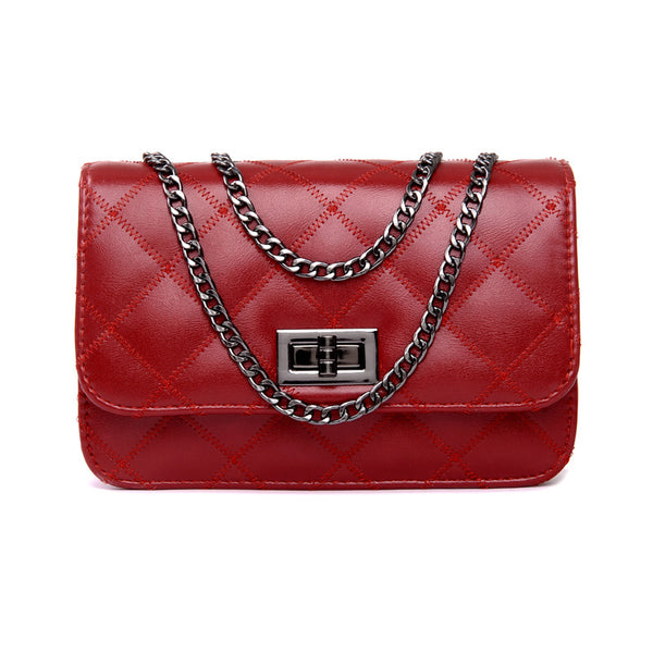 Mamir s Express - Ladies Shoulder Bag Small Crosbody Bags with Chains Flap  Messenger ... e333edee2b581