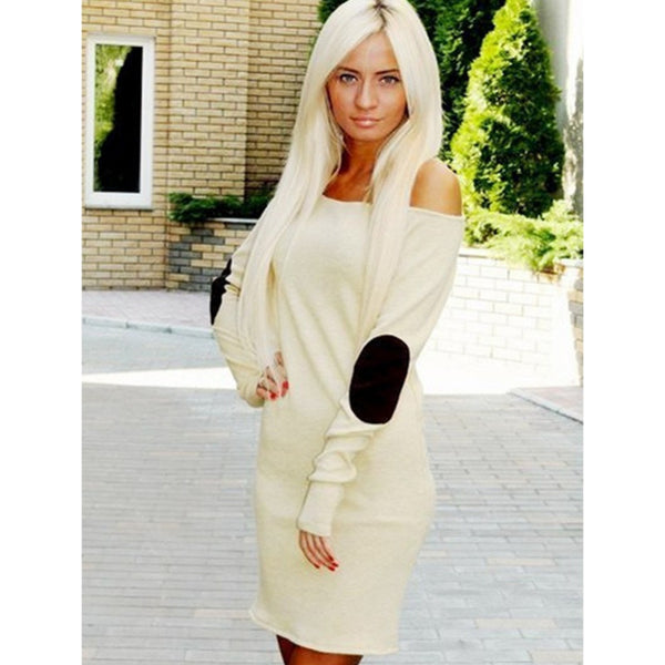 Fashion Sexy Women Off Shoulder Long Sleeve Short Mini Dress Casual Clubwear Dresses PL1