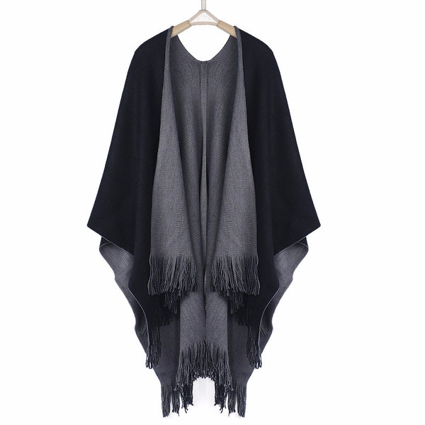 Mamir's Express - Cashmere Poncho Capes Shawl Cardigans Knitted Winter Warm Sweater