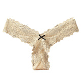 Mamir's Express - Lace Thong Low Waist V-String Briefs G-String Underwear