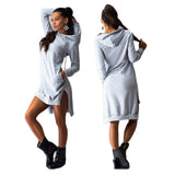 Mamir's Express - Double Split Long Sleeve Pullover Hoodies sweatshirts For Women