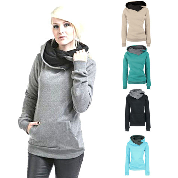Mamir's Express - Elegant Long Sleeve Hoodie Sweatshirt Hooded Pullover