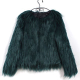 Mamir's Express - Furry Fluffy Fur Warm Coat Winter Outerwear