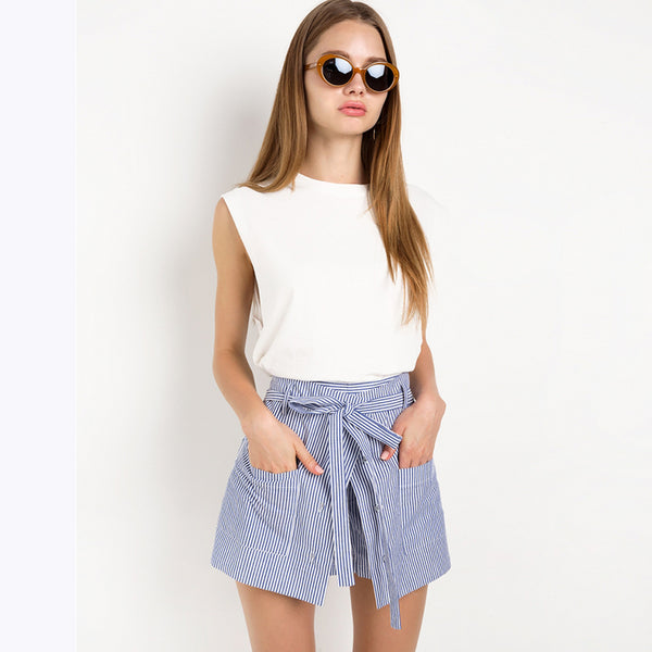 Women Loose Casual Short Slim High Waist