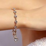 Mamir's Express - Heart Crystal Bracelets & Bangles for women