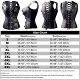 Steampunk Steel Boned Lace up Back Sexy Body Bustier Corset Waist Clincher