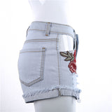 Ripped Jeans for Women High Waist Shorts