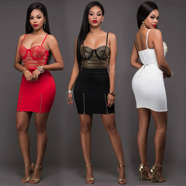 Sexy Two Pieces Cocktail Dresses