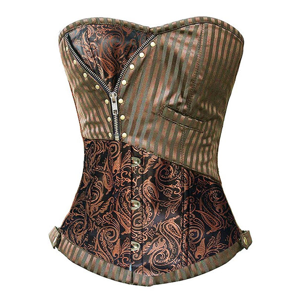 Sexy Corsets and Bustiers Steampunk Corset Brocade Waist Clincher Gothic