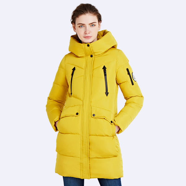 Hooded Coat Woman Clothes Winter Jacket With Pockets