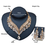 Mamir's Express - Austrian crystal necklace and earrings wedding Jewelry Set