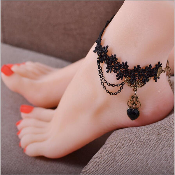 Mamir's Express - Heart Bracelet On Leg Summer Foot Jewelry Anklet Bracelet