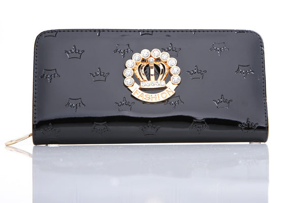 Mamir's Express - Luxury Crown  Women Wallets Cards Holder PU Leather Purses