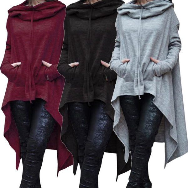 Women Loose Hoodie Long Hooded Sweatshirt