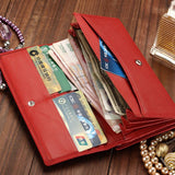 Mamir's Express - Leather Purse Ladies Long Clutch Wallet