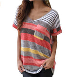 Plus Size 4XL Fashion Brand T Shirt Women  Printed Tops Pocket Casual