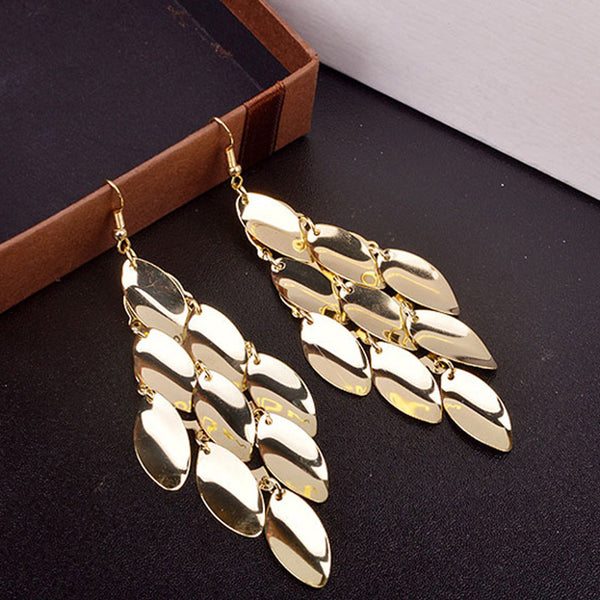Mamir's Express - Metal Multi layer Water Drop Earrings for Women