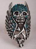 Skull Wings Cross Snake Stretch Ring For women Biker Gothic jewelry