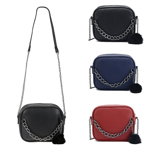 Small Leather  Cross-body Chain  Bag