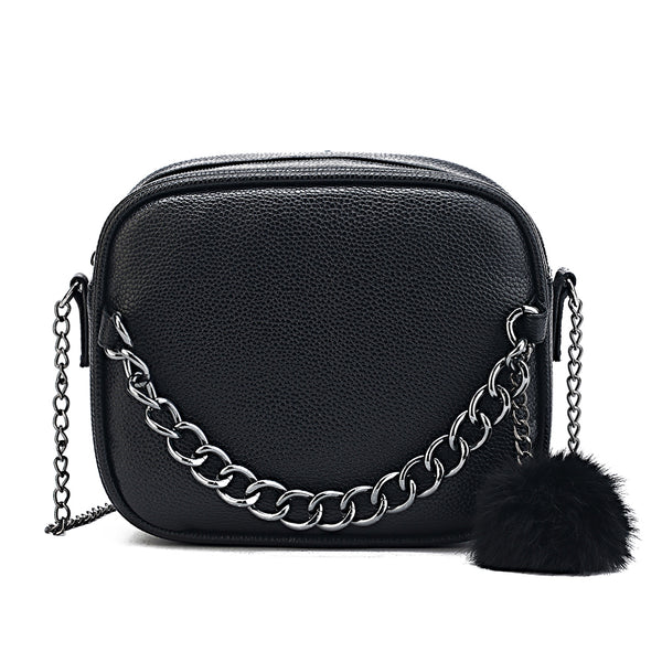 Small Leather Cross-body Chain Bag a4024ff4d8590