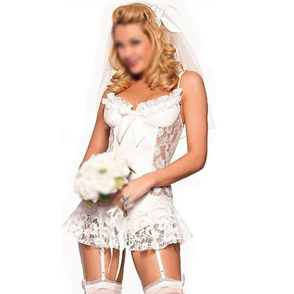 White bridal Sexy cosplay costumes